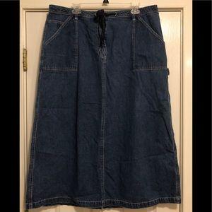 LL Bean women's denim jean skirt